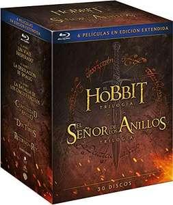 El Señor de los Anillos y El Hobbit - Blu-ray - 30 discos