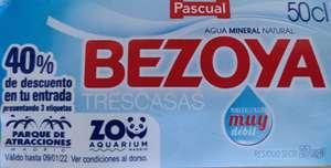 40% descuento Parque de Atracciones o Zoo de Madrid comprando 3 botellas de Bezoya