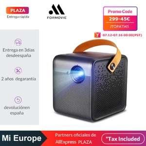 Mini proyector portátil para cine en casa Xiaomi Formovie Full HD 1080P con Google y Chromecast - Desde España (Plaza)