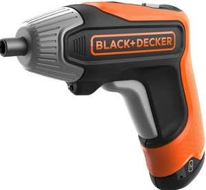 BLACK+DECKER - Atornillador a batería 3.6V(1.5Ah) litio, 5.5Nm,carga rápida + 10 Puntas + Caja
