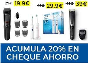 Ofertas en Philips + 20% acumulación en cheque ahorro
