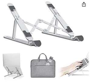 Soporte para portátil ajustable de aluminio (10-15,6 pulgadas