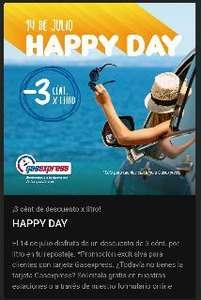 GASEXPRESS HAPPY DAY ¡3 cént de descuento x litro!