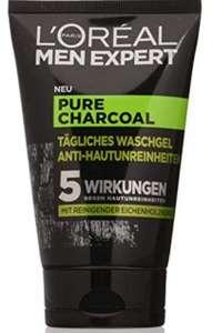 L'Oréal Men Expert Pure Charcoal - Gel de lavado contra las impurezas de la piel, 100 ml