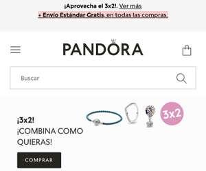 3x2 + envío gratis en Pandora