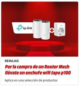 Por la compra de un Router Mesh llévate un enchufe Wifi tapo p100 en Mediamarkt
