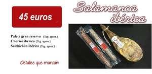 Lote Paleta Gran Reserva 5kg + 1kg chorizo ibérico + 1kg salchichón ibérico + envío gratis con cupón