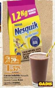 Nesquik 2,4 kg a 2,48 € el kilo