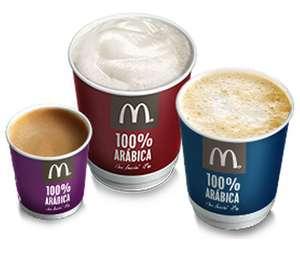 Café gratis en McDonald's todos los lunes