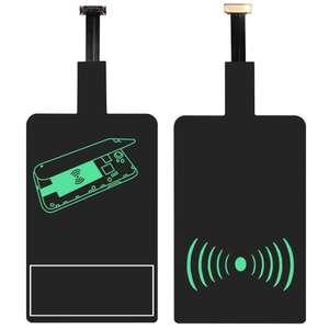 Convertidor Micro USB a Carga Inalámbrica Qi Adaptador Wireless Cargador Android Smartphone