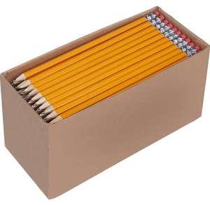 150 lápices n°2 HB de madera afilados con goma de borrar. A menos de 0,08€ el lápiz