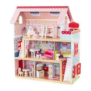 KidKraft 65054 Casa de muñecas de madera Chelsea Doll Cottage