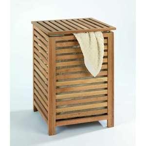 Cesto para la ropa fabricado en madera
