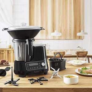 Robot de cocina Moulinex multifunción 3.6 L, 5 programas Auto, tmp de 30 a 120 ºC, 12 velocidades, 1400 W, 32 funciones, báscula, vaporera