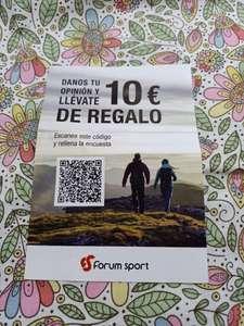 10€ por rellenar una encuesta, al comprar 50€ en FORUM!!!