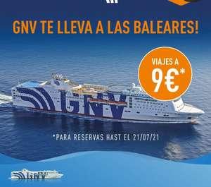 Ferry a Baleares por solo 9€ (diferentes puertos)