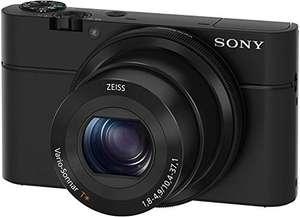 """Cámara Sony DSC-RX100(Sensor CMOS de 20.1 MP, F1.8-4.9, zoom 28-100, zoom óptico 3,6x, pantalla LCD de 3"""", estabilizador)"""