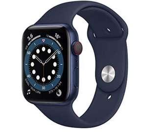 Apple Watch Series 6 (GPS + Cellular, 44 mm) Caja de Aluminio en Azul - Correa Deportiva Azul Marino Intenso