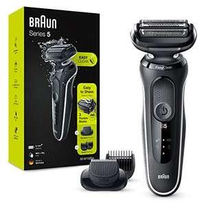 Braun Series 5 50-W1500s Afeitadora Eléctrica, con Recortadora De Barba, Uso En Seco Y Mojado, Recargable, Inalámbrica, Blanco