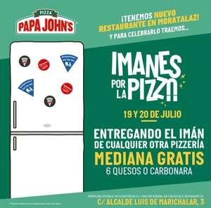 Pizza mediana gratis en el nuevo Papa John's de Madrid