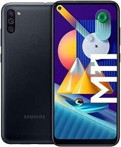 "SAMSUNG Galaxy M11 | Smartphone Dual SIM, Pantalla de 6,4"""", Cámara 13 MP, 3 GB RAM, 32 GB ROM Ampliables, 5.000 mAh, Negro"