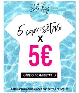 5 camisetas por 5€