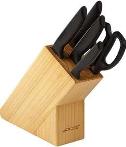 ARCOS - Juego de Cuchillos de Cocina + Tijeras de Acero Inoxidable Nitrum