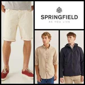Camisas para Hombre 8,99€ // Bermudas 9,99€ // Chaquetas 19,99€ en Springfield