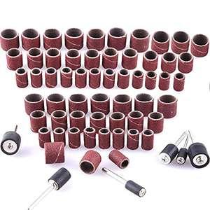 Juego de 384 manguitos de lija (incluye 360 unidades de bandas de lijado y 24 rodillos de lija para herramienta giratoria Dremel