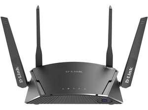 Router WiFi - D-Link DIR-2660, MU-MIMO, Doble banda, Seguridad McAfee , WAN Gigabit, 4 x LAN Gigabit, Negro