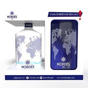 Ginebra Nordés Gin 70 cl + Vaso cristal transparente Nordés de regalo