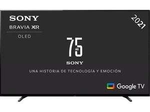 """TV OLED 65"""" - Sony XR65A80JAEP, UHD4K, Procesador cognitivo XR, Smart Tv(Google Tv), Acoustic Surface"""