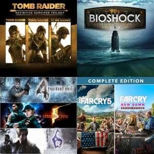 Tomb Raider: Definitive Survivor Trilogy, Lote Far Cry a 19€, Resident Evil Bundle, Pack triple Bioshock: The Collection a 9€ [XBoX]