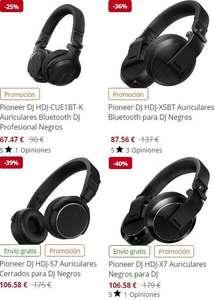 Pioneer DJ - Buenos descuentos para diez modelos de auriculares bluetooth para DJ