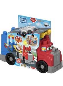 Mega Bloks Camión de carreras y construcción de Fisher Price, juguete construcción bebé +1 año
