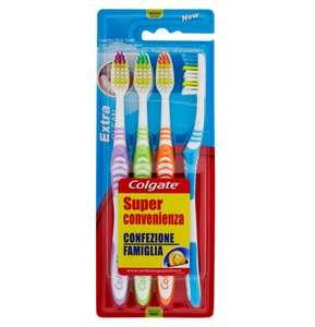 4 cepillos de dientes colgate extra clean