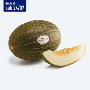 Melón piel de sapo El Mercado a 0,49€/Kg del 25 al 31 de agosto en tiendas Aldi