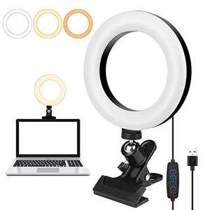 Anillo de luz LED de 6,3 pulgadas para ordenador portátil