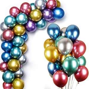 50 globos metálicos de látex multicolor