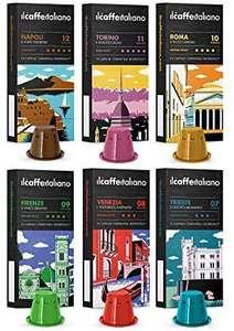 Nespresso 120 Cápsulas de Café compatibles , Kit degustación