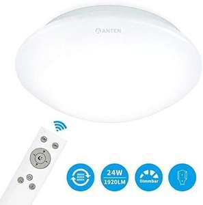 Anten Plafón de techo Regulable 24W, Lámpara LED con mando a distancia,