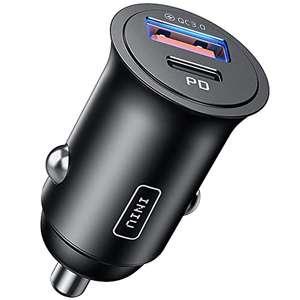 Cargador Coche 60W USB+USB-C 5A PD