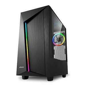Sharkoon REV100 - Caja de Ordenador, PC Gaming, Semitorre ATX