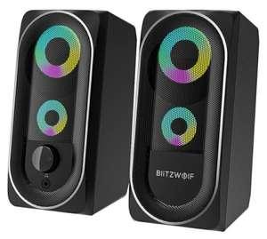 Altavoces BlitzWolf BW-GT1 RGB gaming sonido 360° [desde Europa]