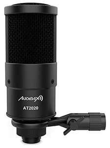 Micrófono de condensador XLR profesional Audibax AT2020
