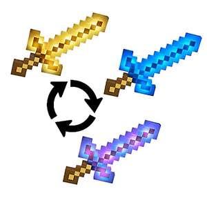 Minecraft Espada luminosa de aventuras, juguete con luces y sonido