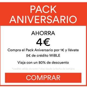 WiBLE (car sharing) pack minutos aniversario 5€ x 1€