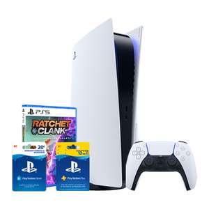 Playstation 5 + Ratchet&Clank + 20€ + 12 meses de PSPlus (lacaixa wivai)