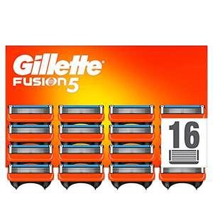 Gillette Fusion 5 Cuchillas de Afeitar Hombre, Paquete de 16 Cuchillas de Recambio
