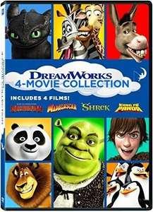 Peliculas Dreamworks en DVD (Madagascar, Shrek, Kung Fu Panda y Como entrenar a tu dragón)